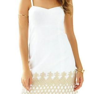 Lilly Pulitzer Lane dress with gold pineapples